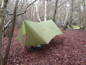 Uk Hammock - Catdoor tarp showing doors closed.